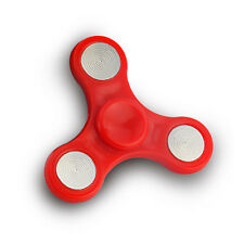 Red Tri-Spinner Fidget Toy EDC Hand Spinner for Autism ADHD Anxiety Toys