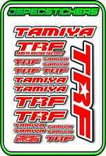 TRF TAMIYA RC STICKER REMOTE CONTROL STICKERS 418 RACING MODEL A5 R/C RED WHITE