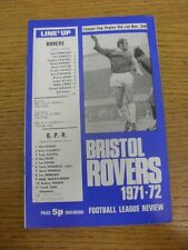 02/11/1971 Bristol Rovers V Queens Park Rangers Football League Cup [] (equipo Chan