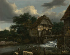 Two Watermills and an Open Sluice Jacob Isaacksz. van Ruisdael Mühle B A3 02324