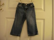 Baby Girl's My First Levis 517 Flare Elastic Back Denim Jeans Size 24 Months