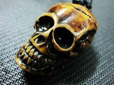 WHOLESALE 12PCS COOL MAN'S SMILE SKULL HEAD Halloween NECKLACE GIFT