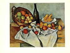 """1963 Vintage CEZANNE """"STILL LIFE WITH BASKET OF APPLES"""" offset Art Lithograph"""