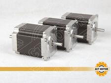 ACTMotor GmbH 3PCS Nema23 23HS8630B Schrittmotor 3A 76mm 2.03Nm DualShaft 6Leads