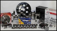 "SBC CHEVY 406 ASSEMBLY SCAT CRANK & 6"" RODS WISECO -22cc Dh 4.155 PISTONS"