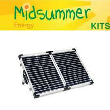 40W (20W+20W) Portable 12V Solar Panel Kit - narrowboats, campers, motorhomes