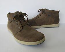CAT Caterpillar Mens Brown Leather Dorrington Casual Lace Up Ankle Shoe Boots 9