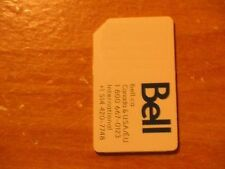 BELL HSPA GSM CELL PHONE TESTING SIM CARD GOOD TO ACCESS IPHONE OPTIONS TEST HTC