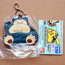 Official Pokemon XY&Z vol.2 rubber mascot keychain - Snorlax by BANDAI *NEW*