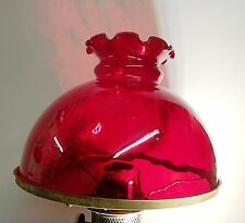 "RUBY STUDENT LAMP OIL LAMP GLASS SHADE KERO 10"" RAYO OIL"