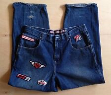 COOL BROOKLYN XPRESS Speedway Rally Men's Jeans 38 x 32 Relaxed Racing PATCHES