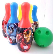 New! Marvel Avengers Bowling Set - Boys Kids Birthday Gift Toy 6 Pins & 1 Ball