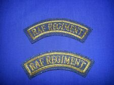 RAF Regiment No 5 dress gold bullion mudguards set of two