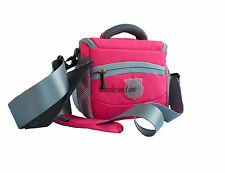 Waterproof Small Shoulder Cmera Bag for DSLR SLR Camera Compact pink