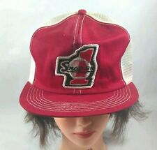 Vintage Snap On Tools Mesh Trucker Cap Hat Snapback Red White Number One USA