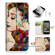 iPhone 5 5S Print Flip Wallet Case Cover! Audrey Hepburn P0032
