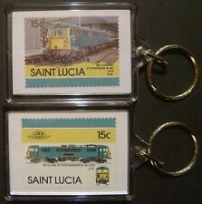 1975 BR Class 87 STEPHENSON Electric Train Stamp Keyring (Loco 100)