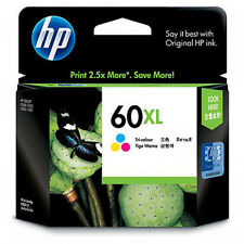 Genuine HP 60XL High Yield Tri-Color CC644WN Ink Cartridge Dated 2012 Guarantee