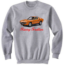 ALFA ROMEO MONTREAL INSPIRED - NEW COTTON GREY SWEATSHIRT ALL SIZES IN STOCK