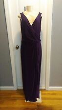 SIMPLE BUT ELEGANT BURGANDY/PURPLE CHAPS EVENING/PROM GOWN SIZE 16