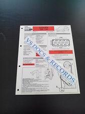 FICHE TECHNIQUE AUTOMOBILE RTA CITROEN ZX 1.4 i (réf 0010)