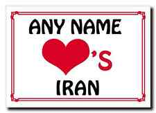Love Heart Iran Personalised Jumbo Magnet