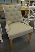Fabric Monte Dining Chair in Natural Linen or black  quality chair oak legs