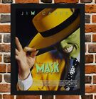 Framed The Mask Movie Poster A4 / A3 Size Mounted In Black / White Frame
