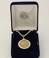 US Quarter Pendant Necklace Viriginia 2000 Sterling Silver State Series w/ Box
