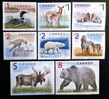 D888A CANADA #1687-1694, $1 Loon to $8 Grizzly Bear High Value Definitives MNH