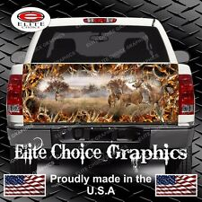 Whitetail Buck Deer Buck Camo Truck Tailgate Wrap Vinyl Graphic Decal Wrap