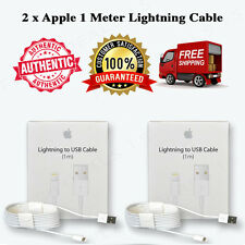 2 x 100% OEM 1m Lightning USB Cable iPhone 6s Plus 6 5s Data Sync Charger Box
