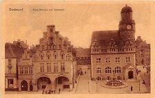 Germany postcard Dortmund Altes Rathaus und Sparkasse street scene