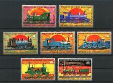 Trains mnh set of 7 stamps 1972 Equatorial Guinea