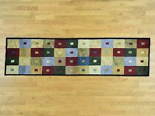 """2'7""""x9'9"""" Closeout Sale Hand-Knotted Modern Nepali Pure Wool Runner Rug Sh32534"""