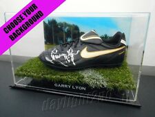 Signed GARRY LYON Football Boot PROOF COA Melbourne Demons 2016 Guernsey