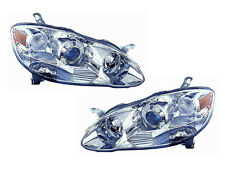 Depo Toyota Corolla 03-08 Projector Euro Chrome Performance Head Light Lamp Set