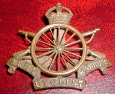 CAP BADGES-ORIGINAL WW1 OFFICERS SERVICE DRESS BRONZE 'OSD' ARMY CYCLIST CORPS