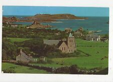 The Church & Old Grimsby Tresco Scilly 1974 Postcard 355a