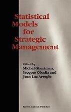 Statistical Models for Strategic Management