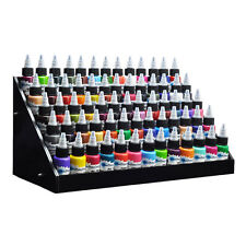 Black Acrylic Tattoo Large Ink Display Stand 5-tier Rack Organizer Table Counter