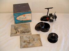 Vtg Blk 1951-52 Mitchell 302 Saltwater Spinning Fishing Reel 4th Version France