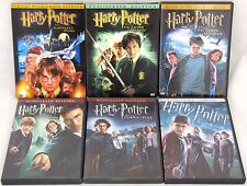Harry Potter Lot of 6 DVDs The Sorcerers Stone Chamber of Secrets Goblet of Fire