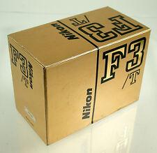 Nikon f3/t f3 f-3 T TITANIO TITANIUM champagne NEW IN BOX NUOVO OVP