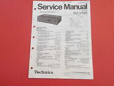 Technics SU-V560 Amplifier Verstärker org. Service Anleitung Manual