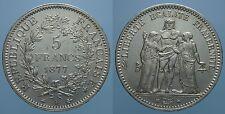 FRANCIA III° REPUBBLICA 5 FRANCHI 1877 A SPL