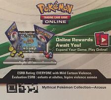 Pokemon TCG Online Mythical Pokemon Collection ARCEUS -CODE Sent Near/Instantly.