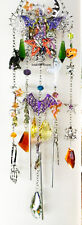 KIRKS FOLLY WITCH'S BREW PUMPKIN PATCH WINDCHIME w/ WILD AUTUMN LEAF EARRINGS