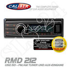 Caliber RMD212 Autoradio DIN Radio USB SD AUX-IN AM/FM MP3 Tuner ohne CD Player