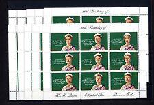 Gibraltar 408 ** Kleinbogen Königinmutter Elisabeth 10x Engrosposten